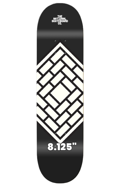"""THE NATIONAL SKATEBOARDS 'CLASSIC BLACK' 8.125"""" (the GRAND HOWL STORE)"""