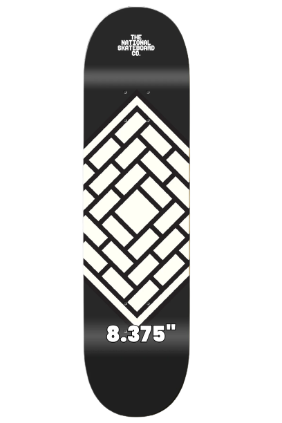 """THE NATIONAL SKATEBOARDS 'CLASSIC BLACK' 8.375"""" (the GRAND HOWL STORE)"""