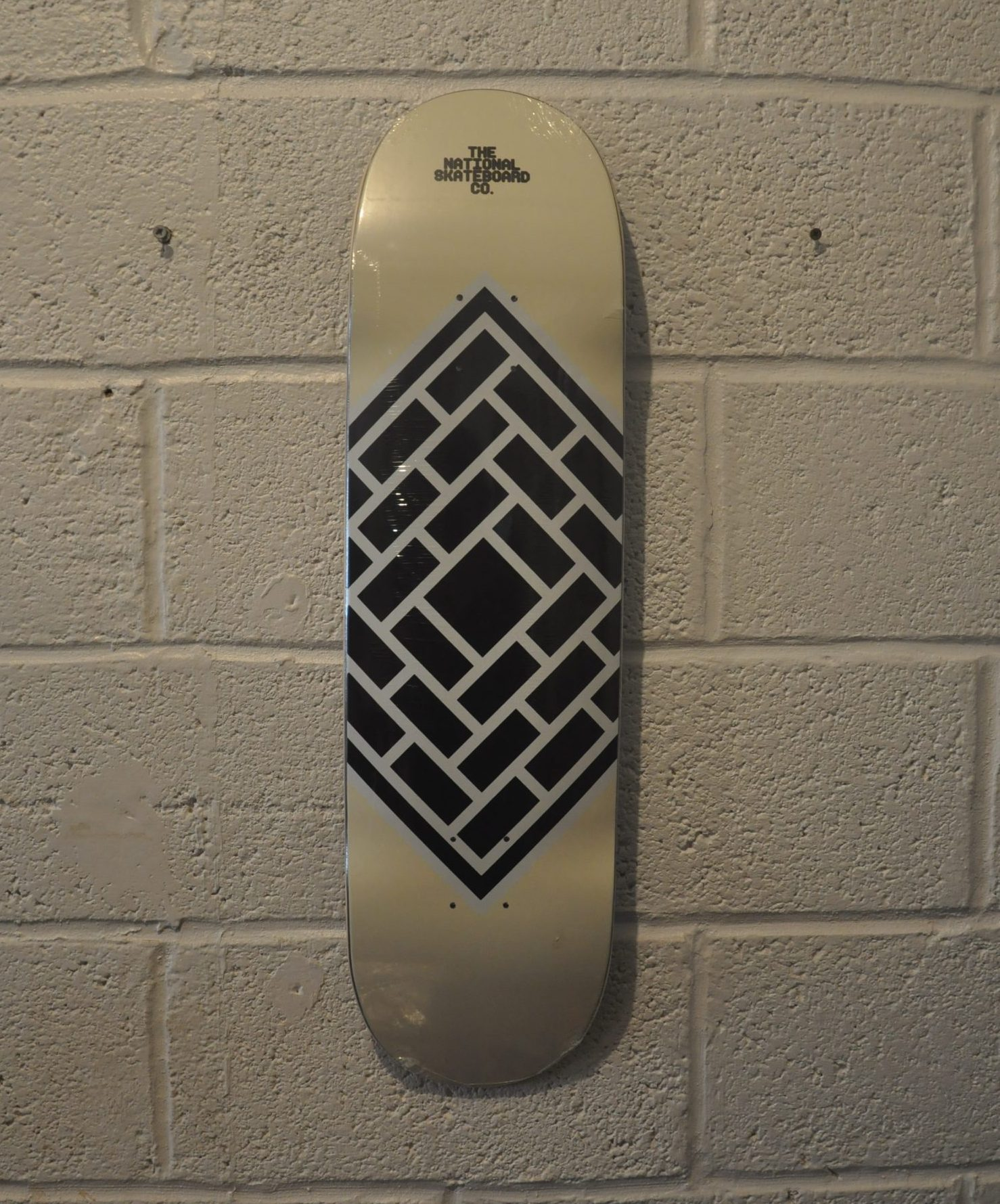 """THE NATIONAL SKATEBOARDS \'CLASSIC CREAM\' 8.0\"""" (the GRAND HOWL STORE)"""
